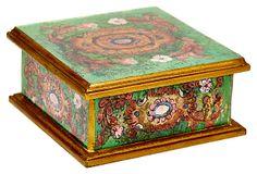 "4"" Square Box, Medallion Green on OneKingsLane.com"