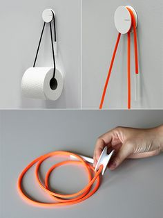 designbinge: Diablo is a toilet paper holder with simple design inspired by the beauty of sailing equipment. It's created by Yang Ripol des...