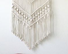 Etsy の Large Macrame Wall Hanging by getknottywithkelly