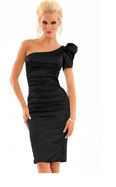 Satin one shoulder dress...