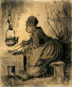 Vincent van Gogh 1885 crayon, wash