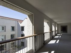 Care home, Wingene Painting Ceramic Tiles, Clay Tiles, Winning London, Covered Walkway, Brick Architecture, Assisted Living, Red Bricks, How To Level Ground, Local Artists