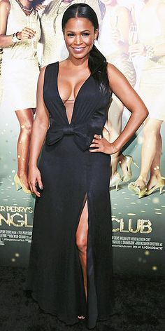 Scarlett Johansson plays up her curves, Emma Watson brings sexy back, Jennifer Connelly flashes some leg and more stars show off their red carpet style. Nia Long, Black Actresses, Hollywood Actresses, Black Actors, Meagan Good, Vintage Black Glamour, Short Black Hairstyles, Night Looks, Beautiful Black Women