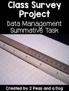 This class survey project is a fantastic way to end any unit on Data Management or Statistics.  Students create a research question, acquire the data and showcase their findings. This assignment is highly engaging as students love to share about themselves and find out about their peers. ($)