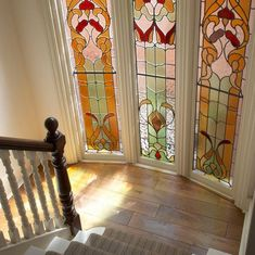 Stained-glass-hallway