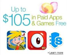 Prepare for spring showers with FREE entertainment.  Grab up to $105 in paid apps and games at the Amazon Appstore through April 19th