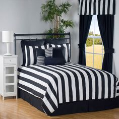 42 Best Black and White Striped Comforter images | Comforters
