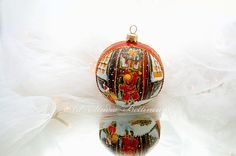 GLASS CHRISTMAS ORNAMENT Christmas door by Bettineum on Etsy