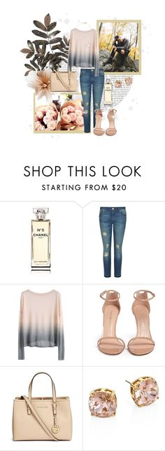 """""""Your kiss is like an antidote.."""" by brook-s18 ❤ liked on Polyvore featuring Chanel, MICHAEL Michael Kors, Stuart Weitzman, Michael Kors, Tory Burch, Estella Bartlett and graysondolan"""