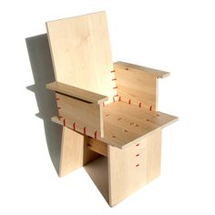 Make your home interior into creative oasis with designer furniture and accessories from Jouke Schouten. Diy Cardboard Furniture, Plywood Furniture, Furniture Design, Plywood Chair, Green Interior Design, Folding Desk, Minimalist Furniture, Bed Design, Joinery