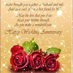 Happy Anniversary card from my friend, Vickie
