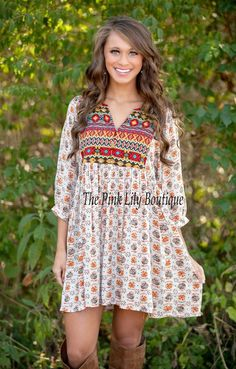 Boho Beauty Printed Dress!