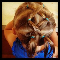 Beautiful hair style for girls!