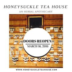 """∆ 15% off your order of $50 or more, use code """"steep"""" at checkout ∆ Honeysuckle Tea House isakin tothe apothecaries of old; connecting what ails the Mind and Body with medicines naturally occurring underfoot.While we are gentle in our trades, we are firm in our commitment to growing, crafting and designing small-batch products at the highest level of quality."""