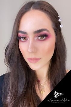 #muakonstantinamarkou #vday #makeup #valentine Airbrush Make Up, Permanent Makeup, Eyelash Extensions, Eyelashes, Beauty Makeup, Makeup Looks, Bridal, Artist, Lashes