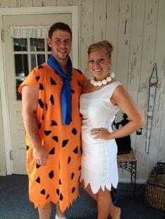 Fred and Wilma Flintstone Halloween Costumes!