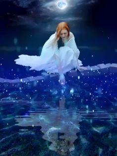 animated movie Tranquil night animation I made Beautiful Fantasy Art, Beautiful Fairies, Beautiful Gif, Good Night Beautiful, Angel Images, Angel Pictures, Good Night Gif, Good Night Image, I Love You Animation