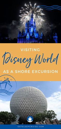 A look at the pros and cons of going to Disney World as a shore excursion. If your cruise stops in Port Canaveral, this post is for you! Bermuda Vacations, Bahamas Vacation, Disney Vacation Club, Disney Cruise Line, Cruise Vacation, Disney Vacations, Disney Trips, Walt Disney, Disney Parks