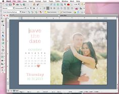DIY Save the Date Tutorial...seriously thinking about doing this!