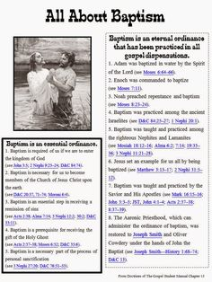 We are having a Baptism Preview Night and my topic of discussion is: What can I do to prepare for baptism?Well.......