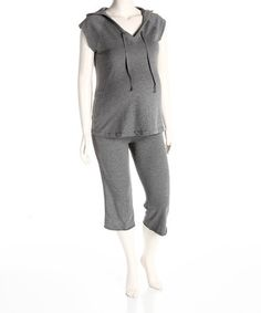 Take a look at this Heather Gray Maternity Hoodie & Pants - Women by Dynabelly on #zulily today!
