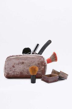 Trousse à maquillage en velours écrasé