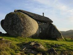 The stone house is located in hillside of Fafe Mountains in Portugal