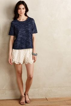 Filigree Lace Shorts - anthropologie.com can this be biz cas work outfit?