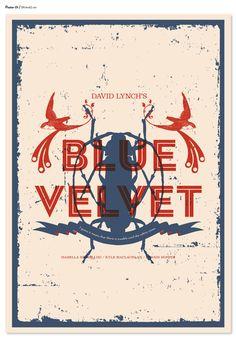 David Lynch's Blue Velvet Poster in David Lynch Films: Collection of Artworks