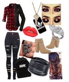 """""""Untitled #2"""" by jademarieball ❤ liked on Polyvore featuring beauty, LE3NO, 2LUV, Balenciaga, River Island, adidas, The Giving Keys, AS29, ABS by Allen Schwartz and Lime Crime"""