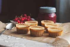 mini cherry vanilla kefir custards via will frolic for food -- low sugar and made with goat milk kefir