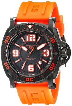 Swiss Legend Men's 11503-BB-01-OAS Typhoon Analog Display Swiss Quartz Orange Watch * Want to know more about the watch, click on the image.