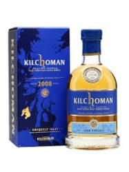 KILCHOCMAN 2008 VINTAGE: Nose, we're in familiar territory here, golden barley, integrated peat, toffees and lemon peel.  Palate, sweet vanilla and cocoa butter with wisps of smoke give way to greater fruitiness than has perhaps often been seen from Kilchoman, blueberries and apricot pieces.  Finish, creamy and fruity, with soft peat too, naturally.