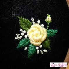 brazilian embroidery for beginners Hand Embroidery Videos, Hand Work Embroidery, Embroidery Flowers Pattern, Learn Embroidery, Hand Embroidery Stitches, Hand Embroidery Designs, Embroidery Techniques, Ribbon Embroidery, Embroidery Art