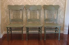 Painted Glazed Kitchen Chairs