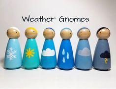 Weather Gnomes Peg Doll Set Montessori Learning Resource