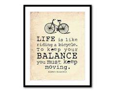Wall Art  LIfe is like riding a bicycle  by SusanNewberryDesigns, $14.00