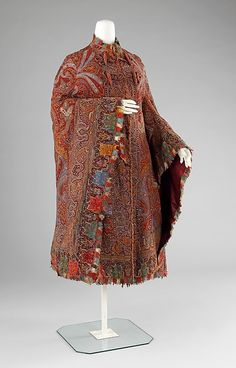 Cloak (image 1) | American | 1885-89 | wool, silk | Brooklyn Museum Costume Collection at The Metropolitan Museum of Art | Accession Number: 2009.300.112