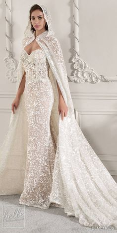 Demetrios Wedding Dress Collection 2019 - Part 1 - Belle The Magazine Western Wedding Dresses, Dream Wedding Dresses, Wedding Attire, Bridal Dresses, Wedding Dresses With Cape, Couture Wedding Gowns, Long Sleeve Wedding, Wedding Dress Sleeves, Wedding Sundress