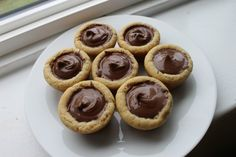 Nutella Cookie Cups--I nearly died when I saw this