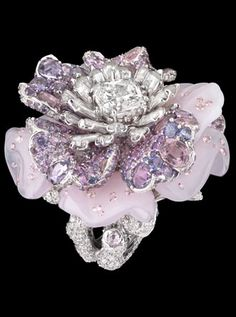 """Grooms gift/ dior fine jewelry/ diamonds & sapphires/ """"le bal des roses"""" <3"""