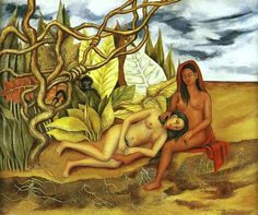 Frida Kahlo - Two nudes in the forest  1939