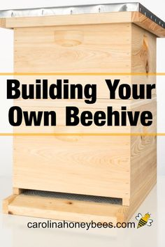 Important considerations for those of you thinking about building your own beehive or bee box.