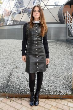 French actress Joana Preiss | Louis Vuitton show Paris Fashion Week Fall/Winter 2015/2016