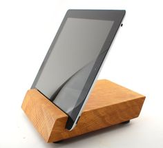 Viola 7 x 7 White Oak iPad Stand by Block & Sons Co.