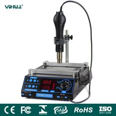 220V/110V EU/US LCD Adjustable Electronic Heat Hot Air Gun PCB preheat and desoldering IR preheating station BGA rework station #Affiliate