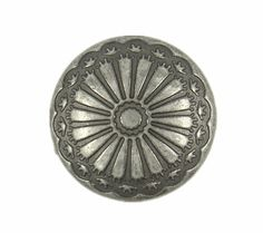Nickel Silver Flower Carving Metal Shank Buttons - 20mm - 3/4 inch