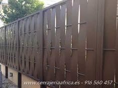 Modelos de valla verjas chapa trenzada vivienda chalet for Valla metalica jardin
