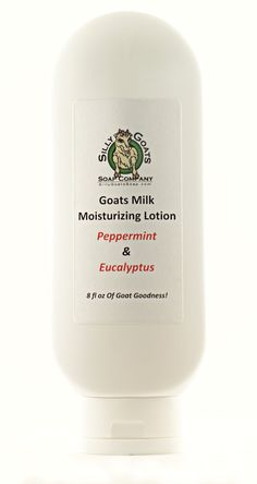Peppermint Lotion homemade lotion Eucalyptus by SillyGoatsSoap