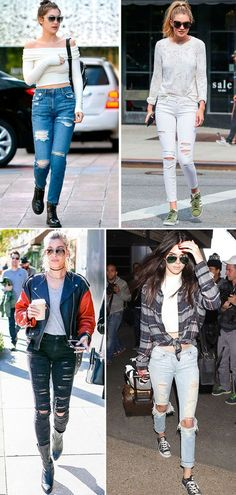 Street style look Gigi e Bella Hadid, Kendall Jenner e Hailey Beldwin.